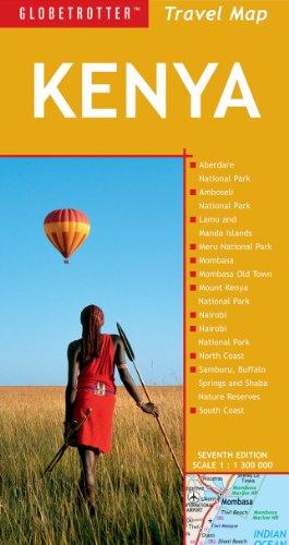 Kenya Travel Map, 7th (Globetrotter Travel Map): Globetrotter