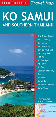 9781780090993: Travel Map Ko Samui & Southern Thailand (Globetrotter Travel Map)