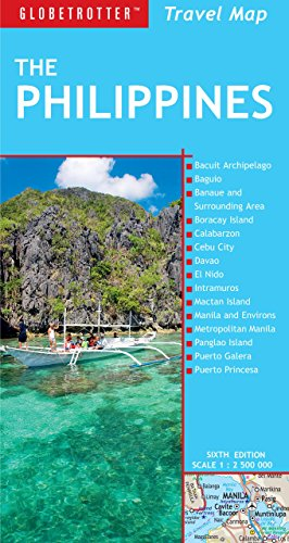 9781780092171: Philippines Travel Map, 6th (Globetrotter Travel Map)