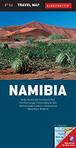 9781780093758: Namibia Travel Map, 8th (Globetrotter Travel Map)