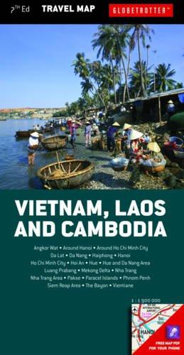 9781780094069: Vietnam, Laos & Cambodia (Globetrotter Travel Map)