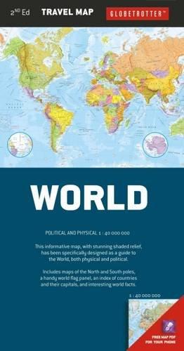 9781780094274: World Travel Map, 2nd (Globetrotter Travel Map)