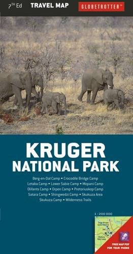 9781780095905: Kruger National Park Travel Map, 7th (Globetrotter Travel Map)