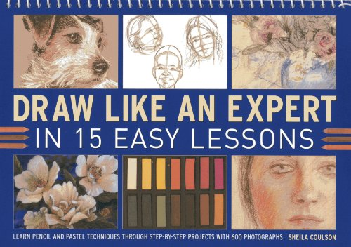 Draw Like An Expert In 15 Easy Lessons: Learn Pencil And Pastel Techniques Through Step-By-Step ...