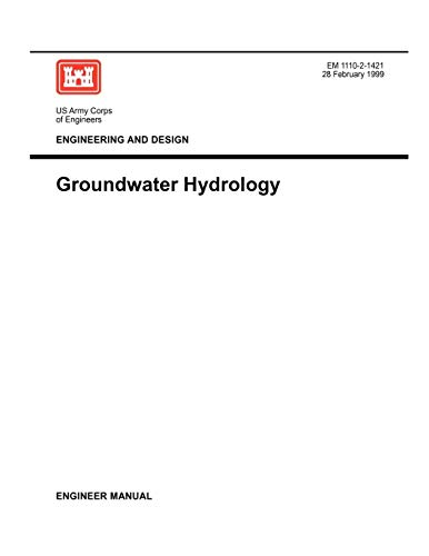 Engineering and Design: Groundwater Hydrology (Engineer Manual: US Army Corps