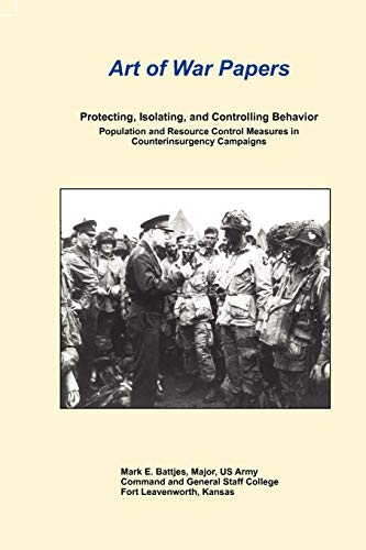 9781780398693: Protecting, Isolating, and Controlling Behavior Population and Resource Control Measures in Counterinsurgency Campaigns