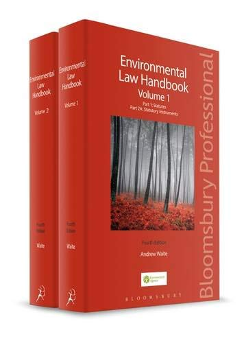 Environmental Law Handbook: Vol 1 and 2 (Paperback): Andrew Waite