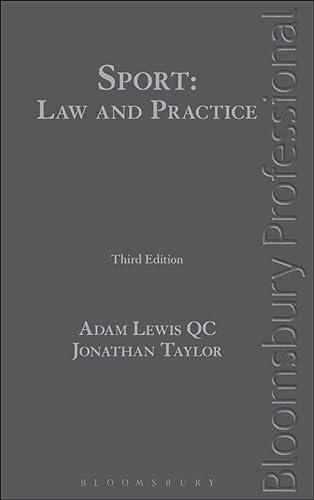 Sport: Law and Practice (Hardback): Adam Lewis, Jonathan Taylor