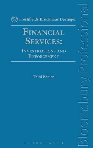 9781780431260: Financial Services: Investigations and Enforcement: Third Edition