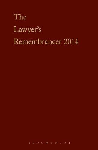 9781780432052: The Lawyer's Remembrancer 2014