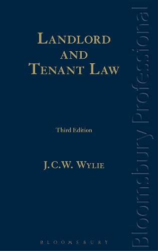 Landlord and Tenant Law: A Guide to Irish Law (Third Edition): Wylie, JCW