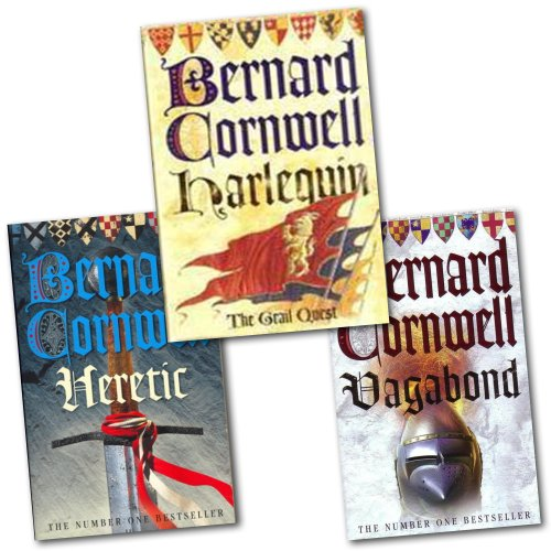 Bernard Cornwell Grail Quest 3 Books Collection Set Pack (Vagabond, Harlequin, Heretic) (1780487126) by Harper Collins