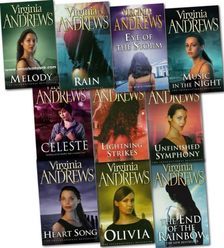 9781780487595: Virginia Andrews Collection 10 Books Set Pack (Gates of Paradise, Hidden Jewel, Pearl in the Mist, Unfinished Symphony, All That Glitters, Olivia, Melody, Music in the Night, Heart Song, Web of Dreams)