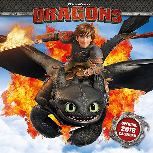 9781780548401: Official How To Train Your Dragon 2016 Square Wall Calendar (Movie by DreamWorks) (Calendar 2016)