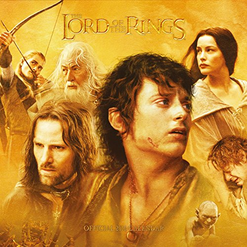 9781780548456: Official Lord Of The Rings 2016 Square Wall Calendar (Calendar 2016)