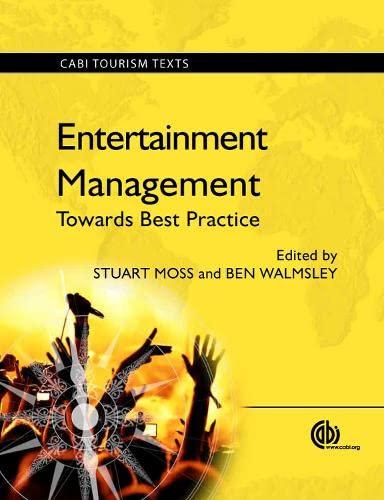 9781780640228: Entertainment Management: Towards Best Practice (CABI Tourism Texts)