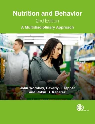 9781780644448: Nutrition and Behavior: A Multidisciplinary Approach