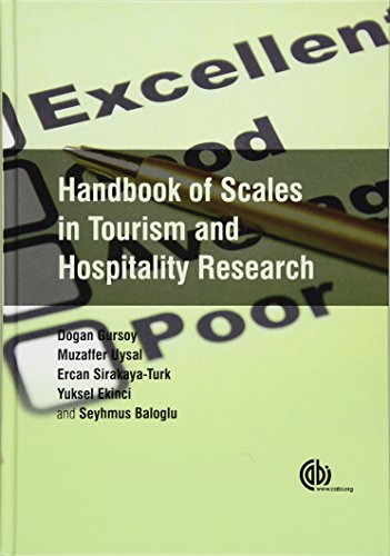 9781780644530: Handbook of Scales in Tourism and Hospitality Research