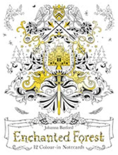 9781780677835 Enchanted Forest 12 Colour In Notecards Colouring