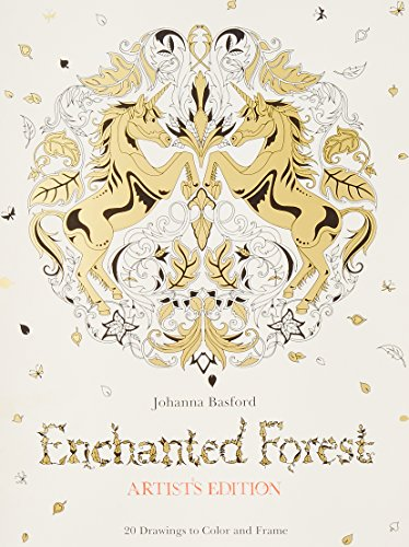 Enchanted Forest Artists Edition 20 Drawings To Color And Frame Basford Johanna
