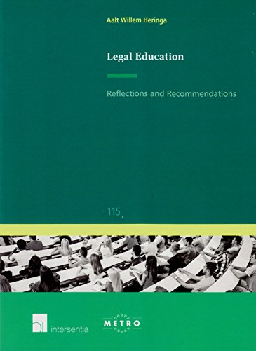 9781780681665: Legal Education: Reflections and Recommendations (Ius Commune Europaeum)
