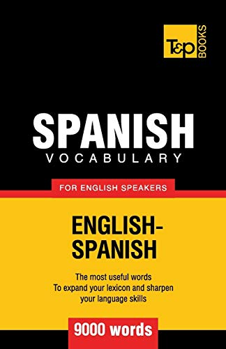 9781780712932: Spanish vocabulary for English speakers - 9000 words