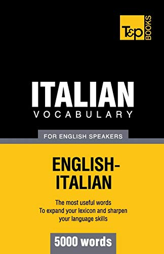 9781780713014: Italian vocabulary for English speakers - 5000 words