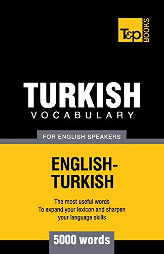 9781780713021: Turkish vocabulary for English speakers - 5000 words