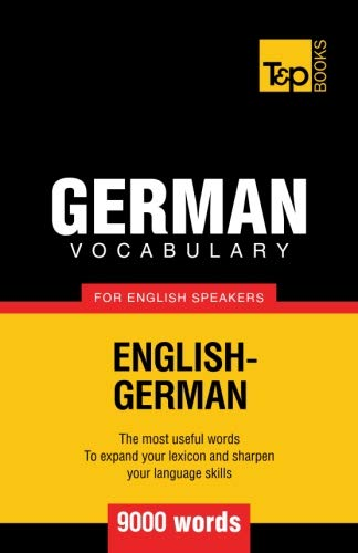 9781780713045: German vocabulary for English speakers - 9000 words