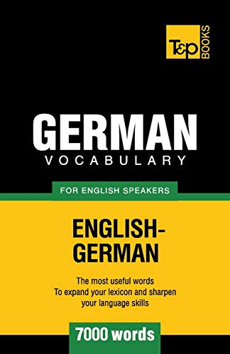 9781780713144: German vocabulary for English speakers - 7000 words