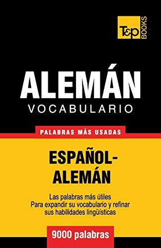 9781780713984: Vocabulario español-alemán - 9000 palabras más usadas (T&P Books)
