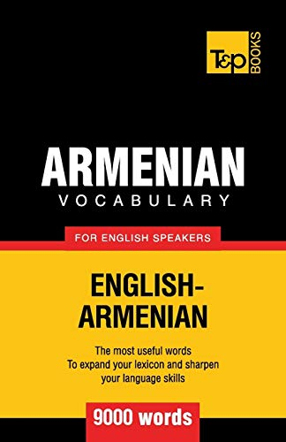 9781780716770: Armenian vocabulary for English speakers - 9000 words