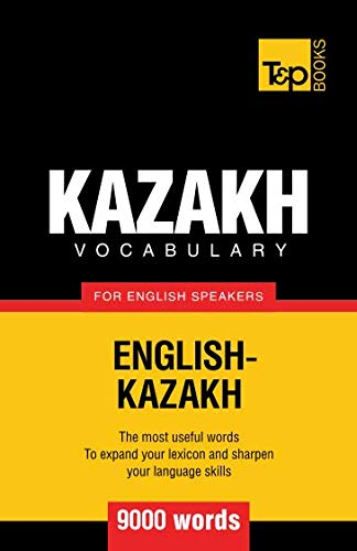 9781780716817: Kazakh vocabulary for English speakers - 9000 words