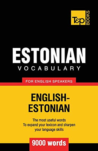 9781780716879: Estonian vocabulary for English speakers - 9000 words