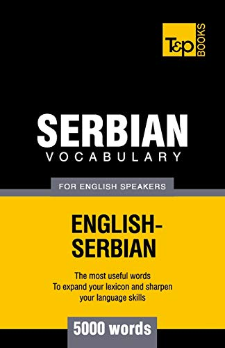 9781780718262: Serbian vocabulary for English speakers - 5000 words