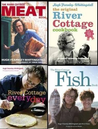 9781780812588: Hugh Fearnley-Whittingstall's River Cottage Collection: River Cottage Fish Book, River Cottage Every Day, the River Cottage Meat Book & the River Cottage Cookbook
