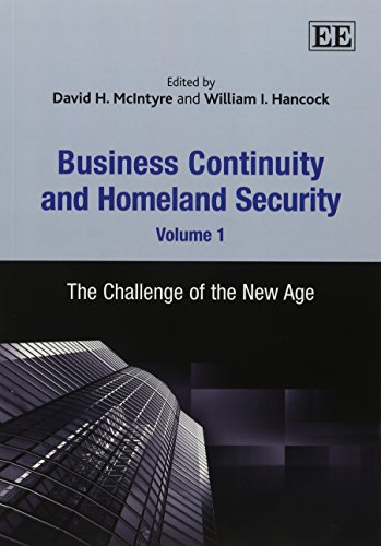 9781781001929: Business Continuity and Homeland Security, Volume 1: The Challenge of the New Age