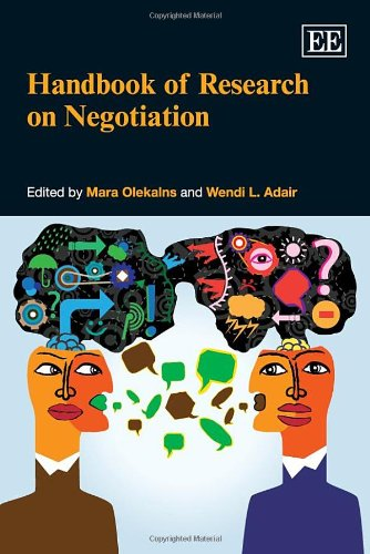 Handbook of Research on Negotiation: Olekalns, Mara (EDT)/ Adair, Wendi L. (EDT)