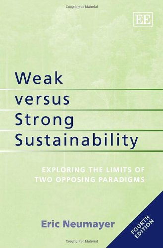 9781781007075: Weak Versus Strong Sustainability: Exploring the Limits of Two Opposing Paradigms