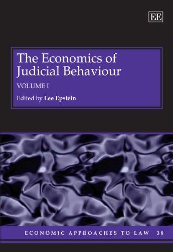 The Economics of Judicial Behaviour (Hardback)