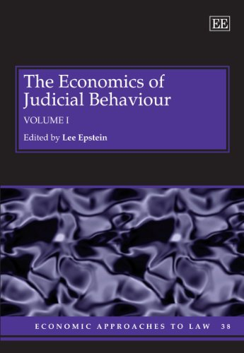 9781781007211: The Economics of Judicial Behaviour (Economic Approaches to Law series, #38)