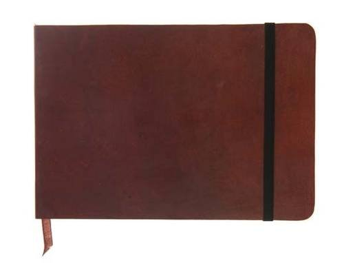 9781781430064: Monsieur Notebook - Real Leather Landscape A5 Brown Plain