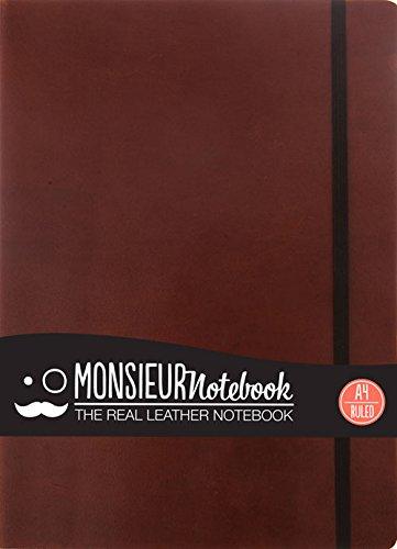 9781781431054: Monsieur Notebook Leather Journal - Brown Ruled Large (Monsieur Notebook Ruled, 24-lb Ivory)