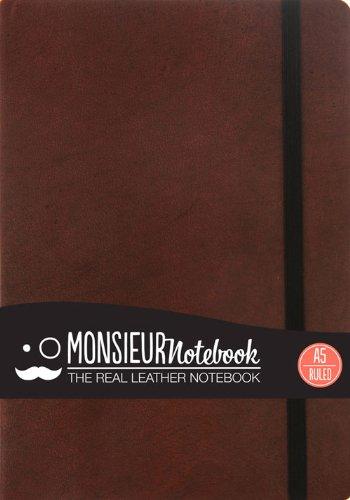 9781781431160: Monsieur Notebook Leather Journal - Brown Ruled Medium (Monsieur Notebook Ruled, 24-lb Ivory)