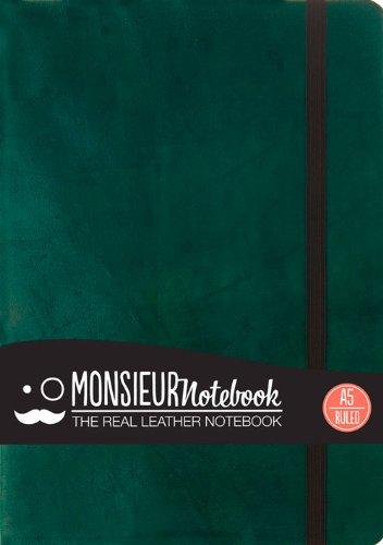 9781781431207: Monsieur Notebook Leather Journal - Green Ruled Medium A5