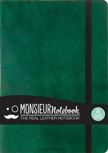 9781781431214: Monsieur Notebook Leather Journal - Green Sketch Medium A5