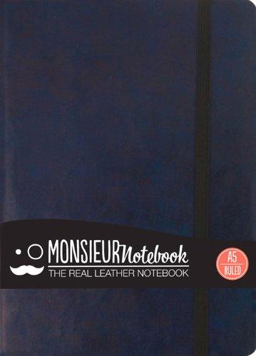 9781781431238: Monsieur Notebook Leather Journal - Navy Ruled Medium (Monsieur Notebook Ruled, 24-lb Ivory)