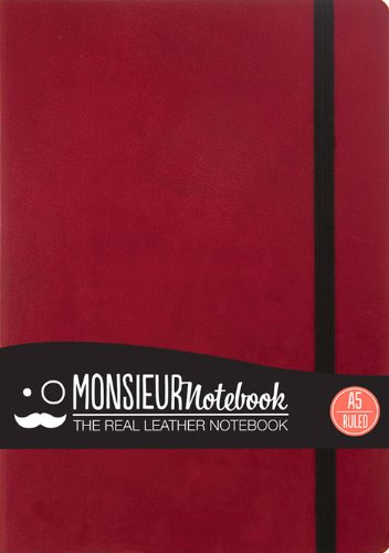 9781781431290: Ruled L Red (Monsieur Notebook Ruled, 24-LB Ivory)