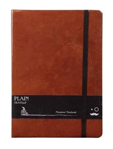 Monsieur Notebook A5 - liniert (90gr) hellbraun: Format DinA5 - liniert - Schreibpapier 90 gr - ...