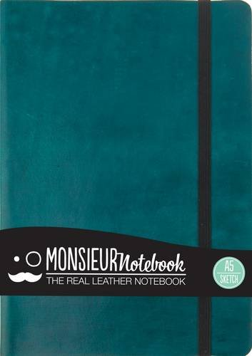 9781781431368: Monsieur Notebook- Real Leather A5 Turquoise Sketch